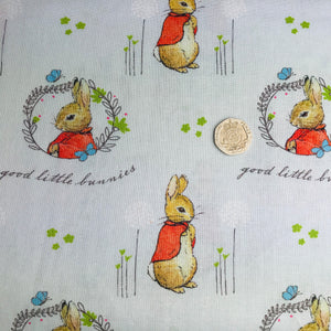 Peter Rabbit - Flopsy Mopsy -  Beatrix Potter - 100% Cotton
