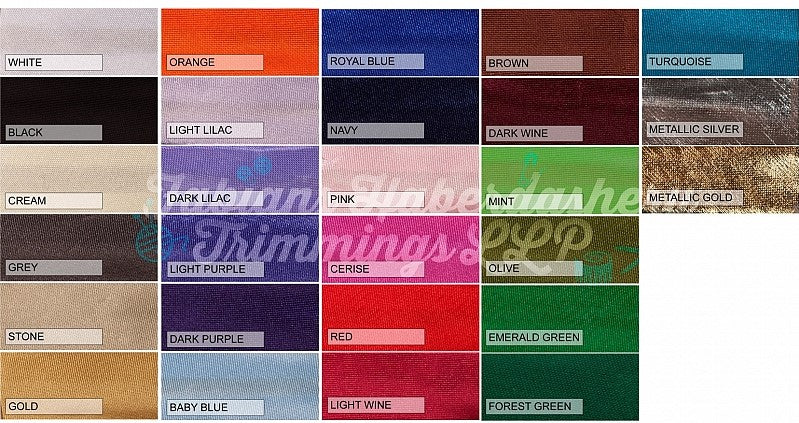Bias Binding - Polyester Satin- 3/4 inch
