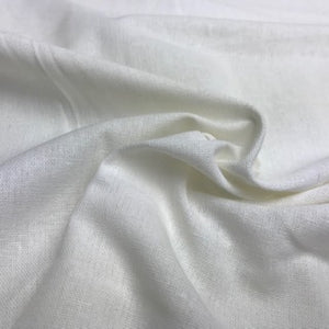 Linen Mix - Plain White