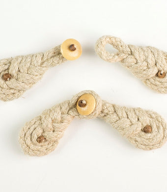 Frog Fasteners - Braid Hessian