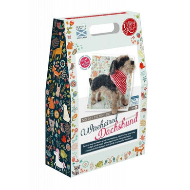 The Crafty Kit Company - Miniature Wirehaired Daschund Needle Felting Kit