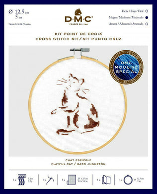DMC Cross Stitch Kit - Playful Cat