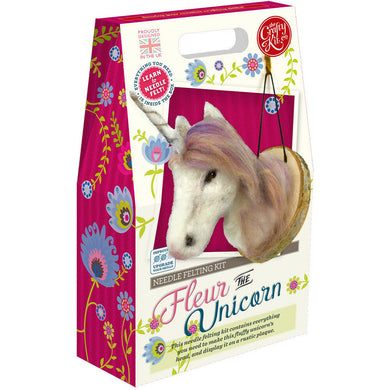 The Crafty Kit Company - Fleur the Unicorn Needle Felting Kit