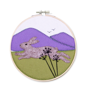 The Crafty Kit Company - Running Hare Applique Kit
