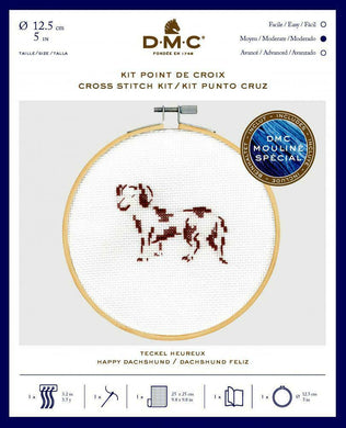 DMC Cross Stitch Kit - Happy Daschund