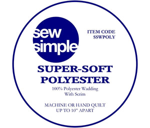 Wadding - Super-Soft Polyester