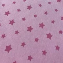 Load image into Gallery viewer, Cotton Jersey Fabric - Pink Stars
