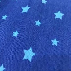 Cotton Jersey Fabric - Blue Stars