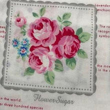 Load image into Gallery viewer, Flower Sugar -Rose Panels on White - 100% Cotton