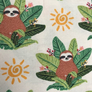 Tropical Sloth - 100% Cotton