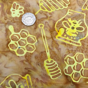 Bee Hive - Honey -  Anthology Fabric - 100% Cotton