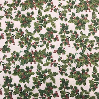 Traditional Holly - 100% Cotton