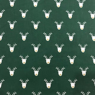 Emerald Reindeer - 100% Cotton
