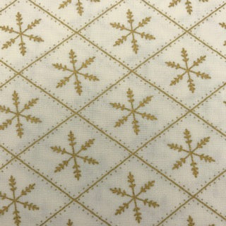 Diamond Snowflakes - 100% Cotton