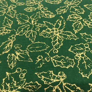 Gold Holly - 100% Cotton - John Louden