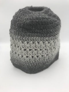 Crocheted Pony Tail Beanie
