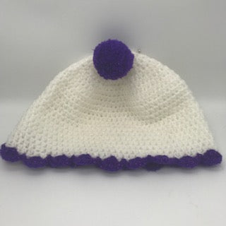 Crocheted Hat with a bit of sparkle