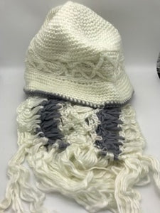 Crocheted Hat & Knitted Scarf Set