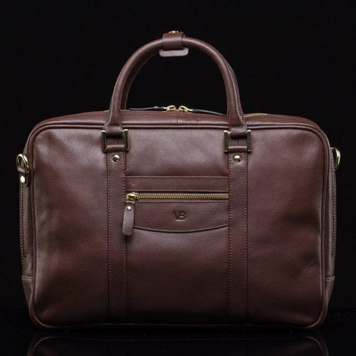 Business City Leather Laptop Bag
