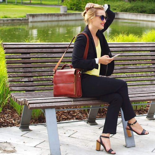 Elegance Women's Leather Briefcase