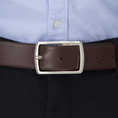 Reversible Structure Leather Belt