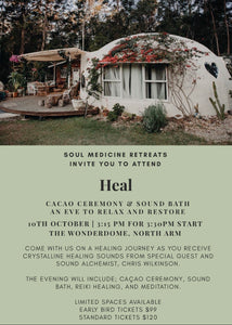 Heal, Cacao Ceremony and Sound Bath