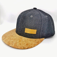 Load image into Gallery viewer, Cappellino Snapback Antracite Sughero
