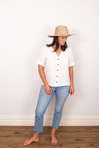 Poppy Blouse - Ivory