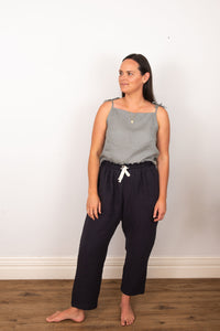 Paper Bag Pant - Dark Navy