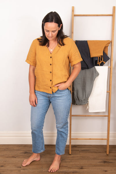 Poppy Blouse - Mustard