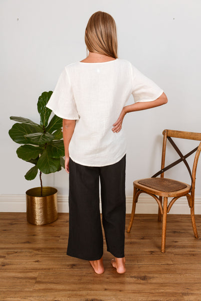 Scallop Top - Ivory