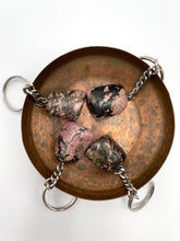 Load image into Gallery viewer, Rhodonite Tumbled Stone Keyring