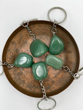 Load image into Gallery viewer, Aventurine Tumbled Stone Keyring