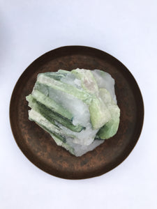 Green Tourmaline in Quartz Matrix