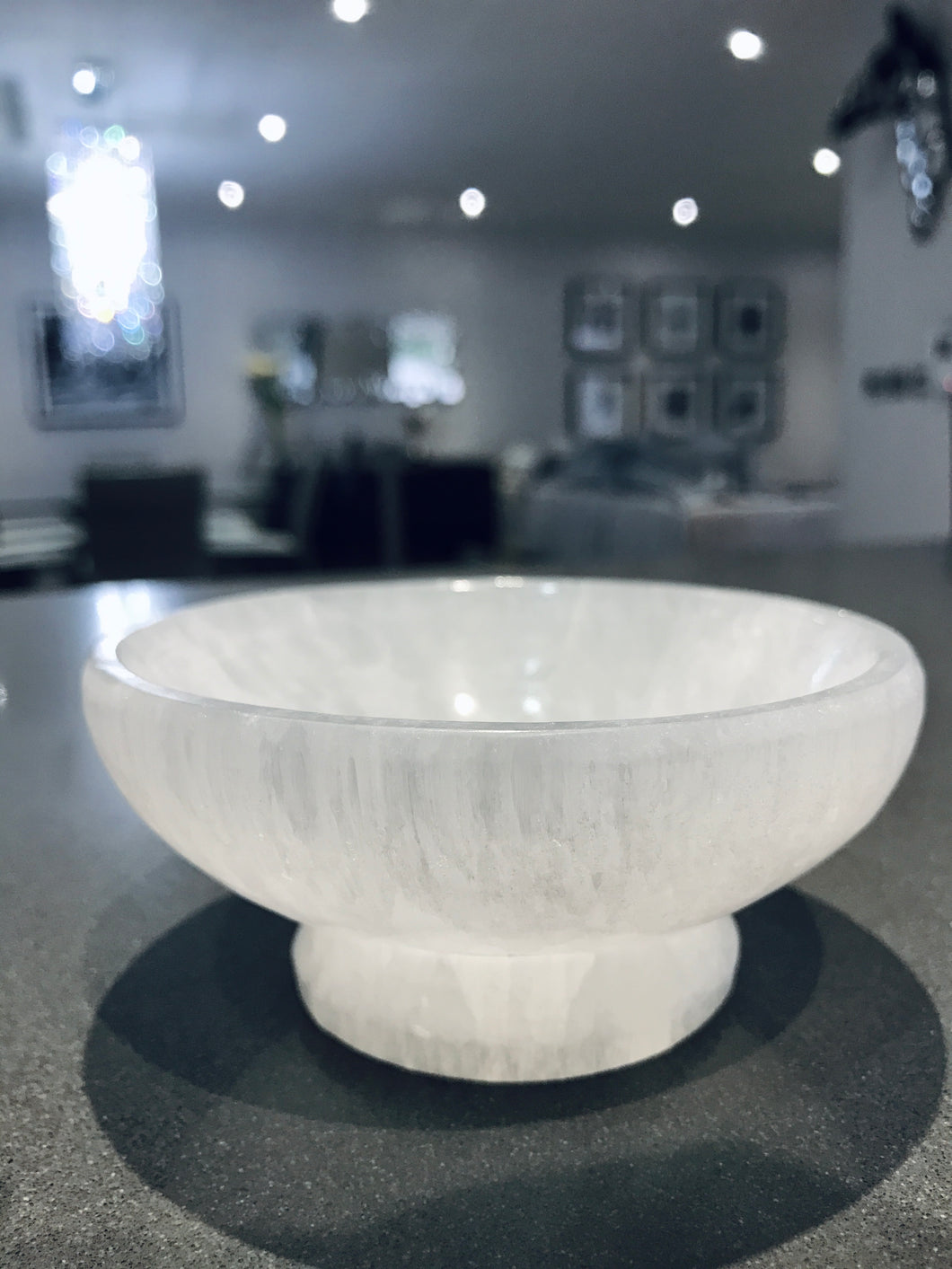 Selenite Charging Bowl with Base
