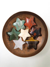 Load image into Gallery viewer, Mini Stars - Aventurine, Tigers Eye, Red Jasper, Moss Agate, Red Mahogany Obsidian, Mangano Calcite, Rose Quartz, Selenite