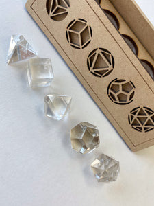 Clear Quartz Platonic Solids