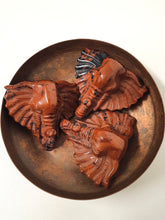 Load image into Gallery viewer, Red Mahogany Obsidian Elephant