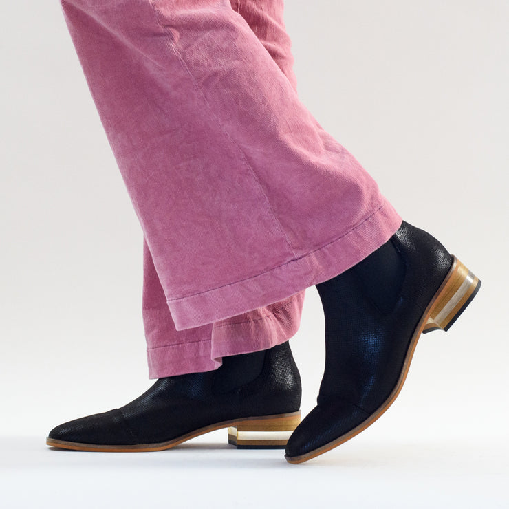 Bruna Black Suede