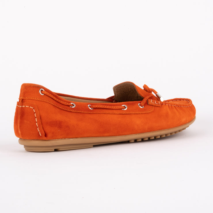 Madelyn Orange Suede