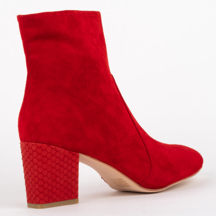 Enviable Red Suede
