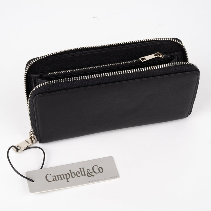 Mini Clutch Bag Black Silver