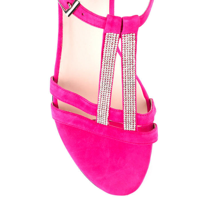 Simona Pink Suede