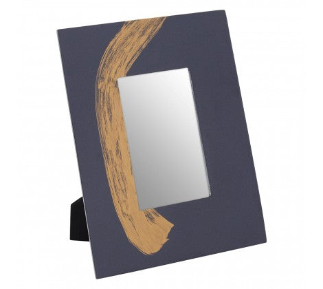 The  Blue Stroke of Gold Photo Frame