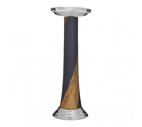 The  Blue Stroke of Gold Candle Holder
