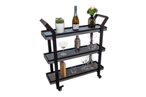 'CONTEMPORARY' 3 Tier Drinks Trolley