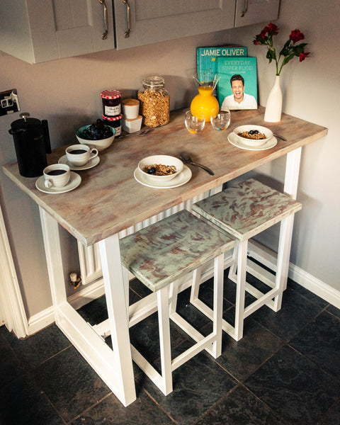 Angular Breakfast Bar Set