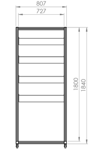 Small Single Sided Parts / Kanban Trolley