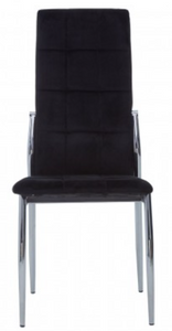 Contemporary Velvet High Back Dining Chair