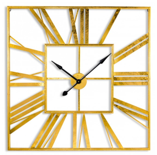 Large 111cm Square Skeleton Clock